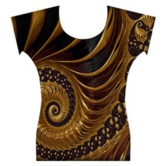 Fractal Spiral Endless Mathematics Women s Cap Sleeve Top