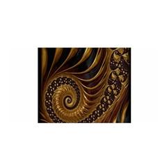 Fractal Spiral Endless Mathematics Satin Wrap