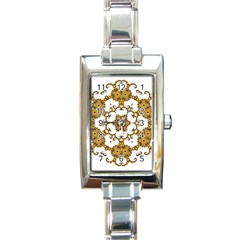 Fractal Tile Construction Design Rectangle Italian Charm Watch