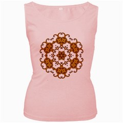 Fractal Tile Construction Design Women s Pink Tank Top