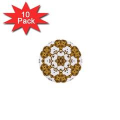 Fractal Tile Construction Design 1  Mini Buttons (10 pack)