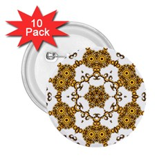 Fractal Tile Construction Design 2.25  Buttons (10 pack)