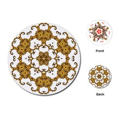 Fractal Tile Construction Design Playing Cards (Round)