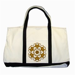 Fractal Tile Construction Design Two Tone Tote Bag