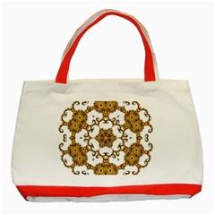Fractal Tile Construction Design Classic Tote Bag (Red)