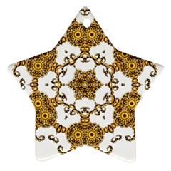 Fractal Tile Construction Design Star Ornament (Two Sides)