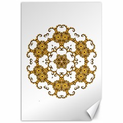 Fractal Tile Construction Design Canvas 20  x 30