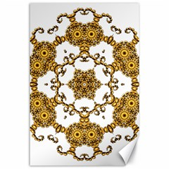Fractal Tile Construction Design Canvas 24  x 36