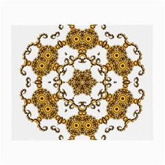 Fractal Tile Construction Design Small Glasses Cloth (2-Side)