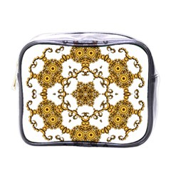 Fractal Tile Construction Design Mini Toiletries Bags