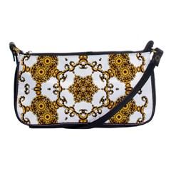 Fractal Tile Construction Design Shoulder Clutch Bags