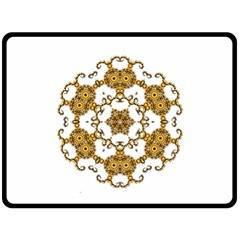 Fractal Tile Construction Design Fleece Blanket (Large)