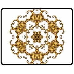 Fractal Tile Construction Design Fleece Blanket (Medium)