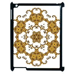 Fractal Tile Construction Design Apple iPad 2 Case (Black)