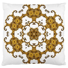 Fractal Tile Construction Design Large Cushion Case (Two Sides)