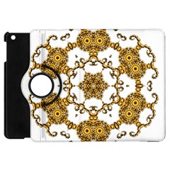 Fractal Tile Construction Design Apple iPad Mini Flip 360 Case