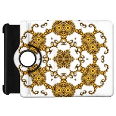 Fractal Tile Construction Design Kindle Fire HD Flip 360 Case