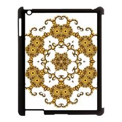 Fractal Tile Construction Design Apple iPad 3/4 Case (Black)