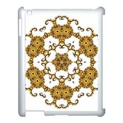Fractal Tile Construction Design Apple iPad 3/4 Case (White)