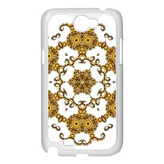 Fractal Tile Construction Design Samsung Galaxy Note 2 Case (White)