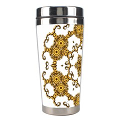 Fractal Tile Construction Design Stainless Steel Travel Tumblers