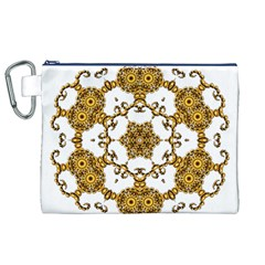 Fractal Tile Construction Design Canvas Cosmetic Bag (XL)