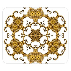Fractal Tile Construction Design Double Sided Flano Blanket (Small)