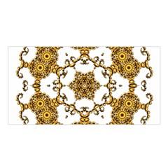 Fractal Tile Construction Design Satin Shawl