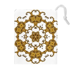 Fractal Tile Construction Design Drawstring Pouches (Extra Large)