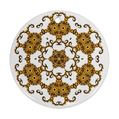 Fractal Tile Construction Design Ornament (Round)