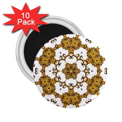 Fractal Tile Construction Design 2.25  Magnets (10 pack)
