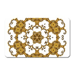 Fractal Tile Construction Design Magnet (Rectangular)
