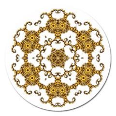 Fractal Tile Construction Design Magnet 5  (Round)