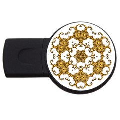 Fractal Tile Construction Design USB Flash Drive Round (2 GB)
