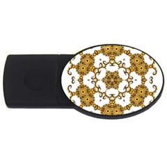 Fractal Tile Construction Design USB Flash Drive Oval (2 GB)