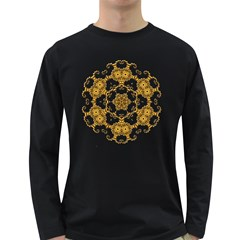 Fractal Tile Construction Design Long Sleeve Dark T-Shirts