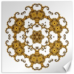 Fractal Tile Construction Design Canvas 12  x 12