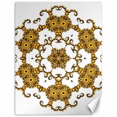 Fractal Tile Construction Design Canvas 12  x 16