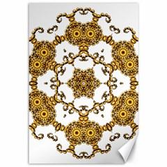 Fractal Tile Construction Design Canvas 12  x 18