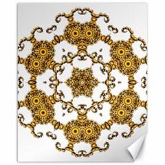 Fractal Tile Construction Design Canvas 16  x 20
