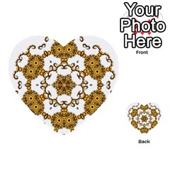 Fractal Tile Construction Design Multi-purpose Cards (Heart)