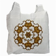 Fractal Tile Construction Design Recycle Bag (One Side)