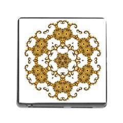 Fractal Tile Construction Design Memory Card Reader (Square)