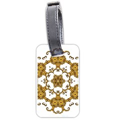 Fractal Tile Construction Design Luggage Tags (Two Sides)