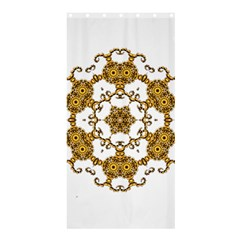 Fractal Tile Construction Design Shower Curtain 36  x 72  (Stall)