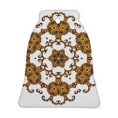 Fractal Tile Construction Design Ornament (Bell)