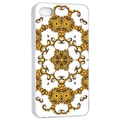 Fractal Tile Construction Design Apple iPhone 4/4s Seamless Case (White)