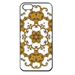 Fractal Tile Construction Design Apple iPhone 5 Seamless Case (Black)
