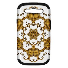 Fractal Tile Construction Design Samsung Galaxy S III Hardshell Case (PC+Silicone)