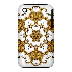 Fractal Tile Construction Design Apple iPhone 3G/3GS Hardshell Case (PC+Silicone)